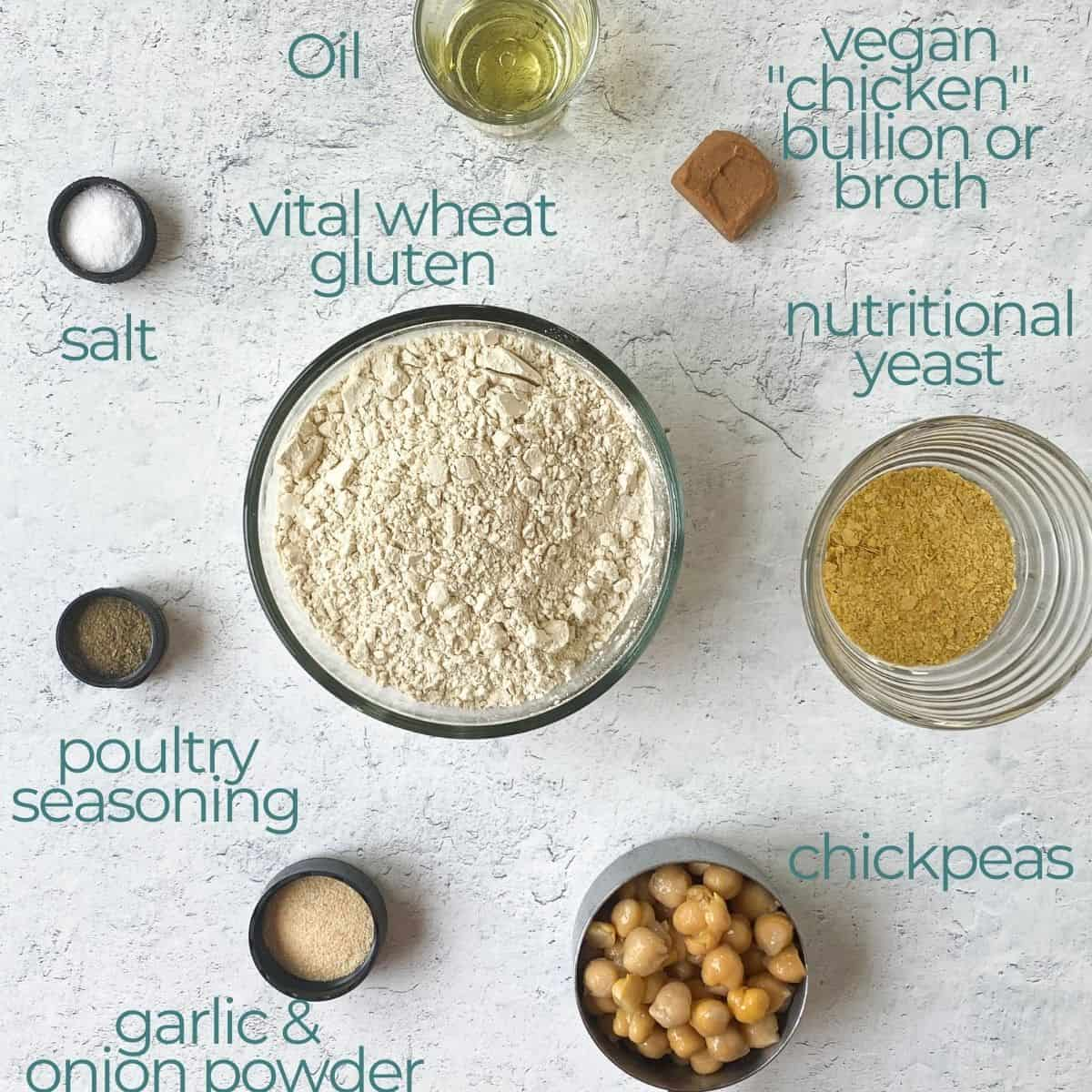 all ingredients needed for recipe  with plater background.