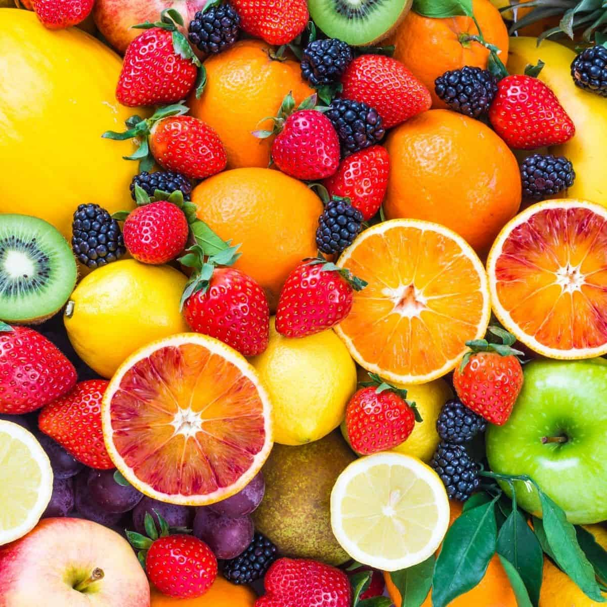 fruits on the vegan food list for beginners: citrus, apples, berries, kiwi and more
