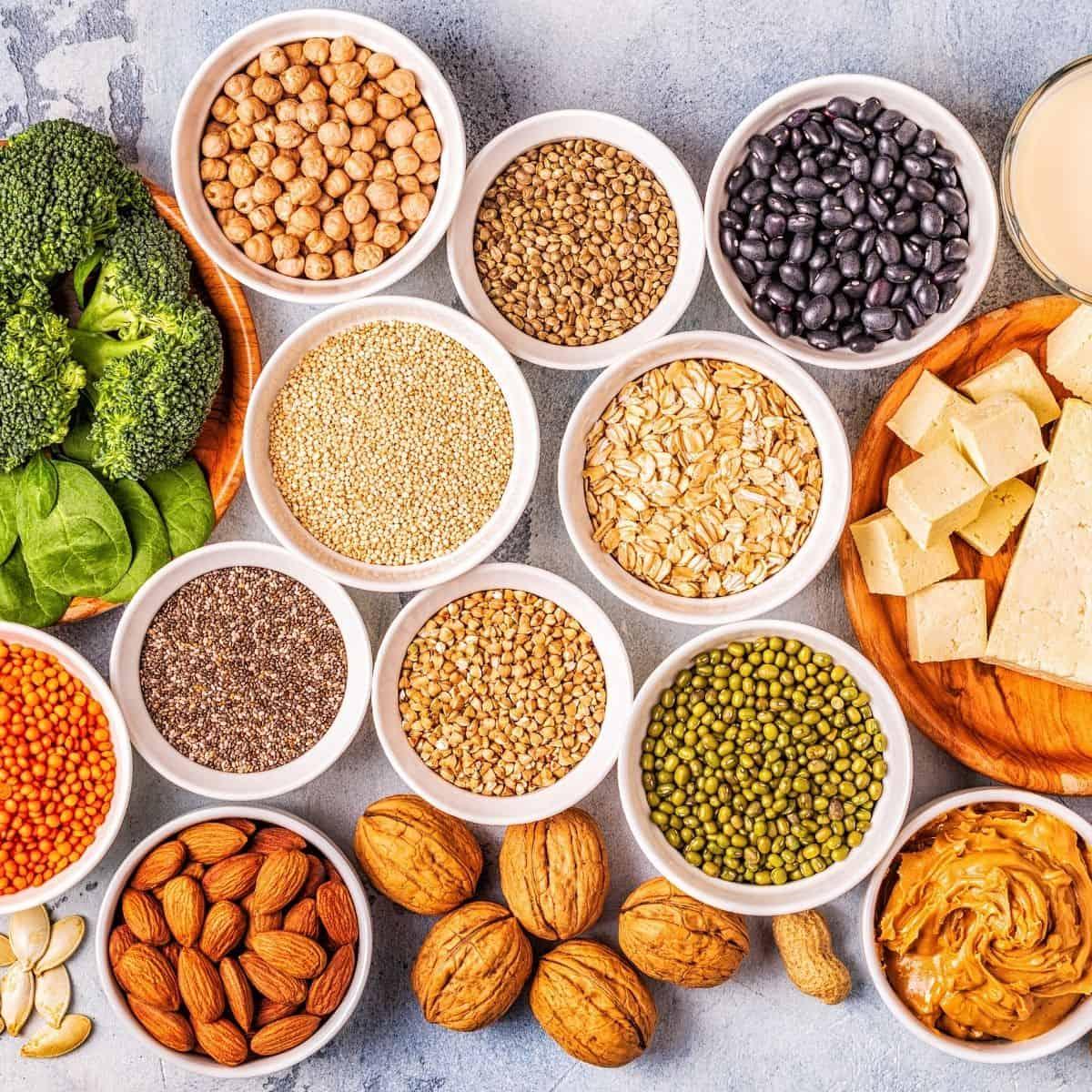 foods for a vegan diet.